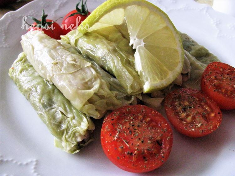 zeytinyağlı lahana sarması