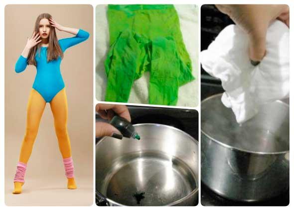 medias, pantys femeninos,,tintes colorantes comestibles, manualidades enrhedando