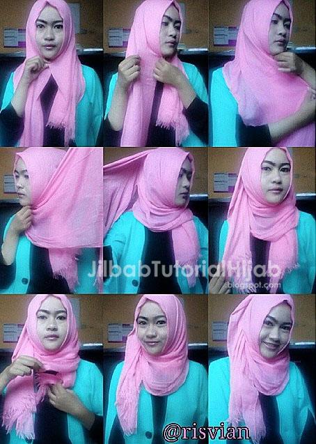 Tutorial hijab pashmina tanpa jarum pentul untuk ke kampus terbaru
