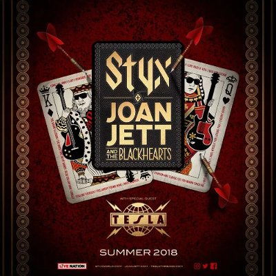 Joan Jett, Styx and Tesla Announce Summer Tour, Includes Stop in Hershey