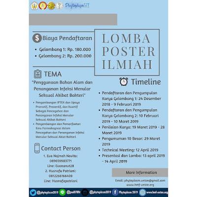 Lomba Poster Ilmiah Nasional Phytoplasm XI 2019 di Universitas Tanjungpura