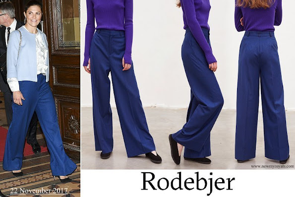 Crown Princess Victoria wore Rodebjer Simone Pants
