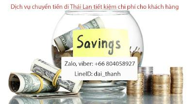 Dịch vụ chuyển tiền đi Thái Lan, chuyển tiền từ Thái Lan về Việt Nam, nhanh - giá rẻ - an toàn - tiết kiệm cho khách hàng