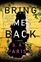 Bring Me Back by B. A. Paris, book cover and review