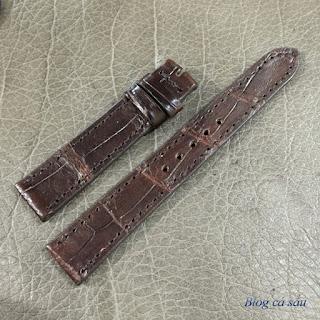 dây đồng hồ nữ da cá sấu 09