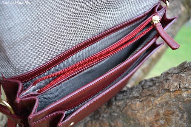 Hidesign Chione Dark Red