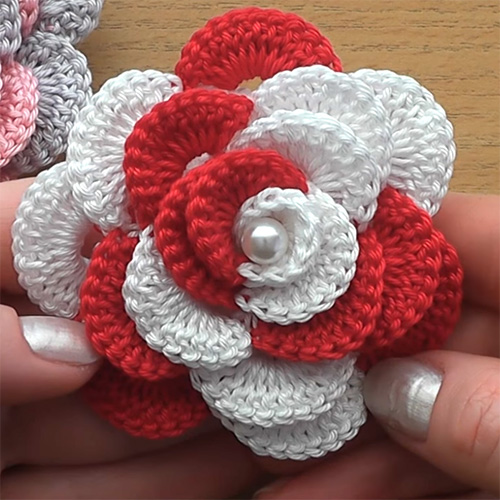 Crochet For Children: Crochet Flower Rose - Very Easy Tutorial