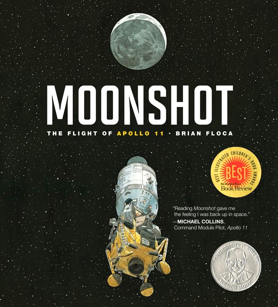 Moonshot, part of children's book review list about outer space