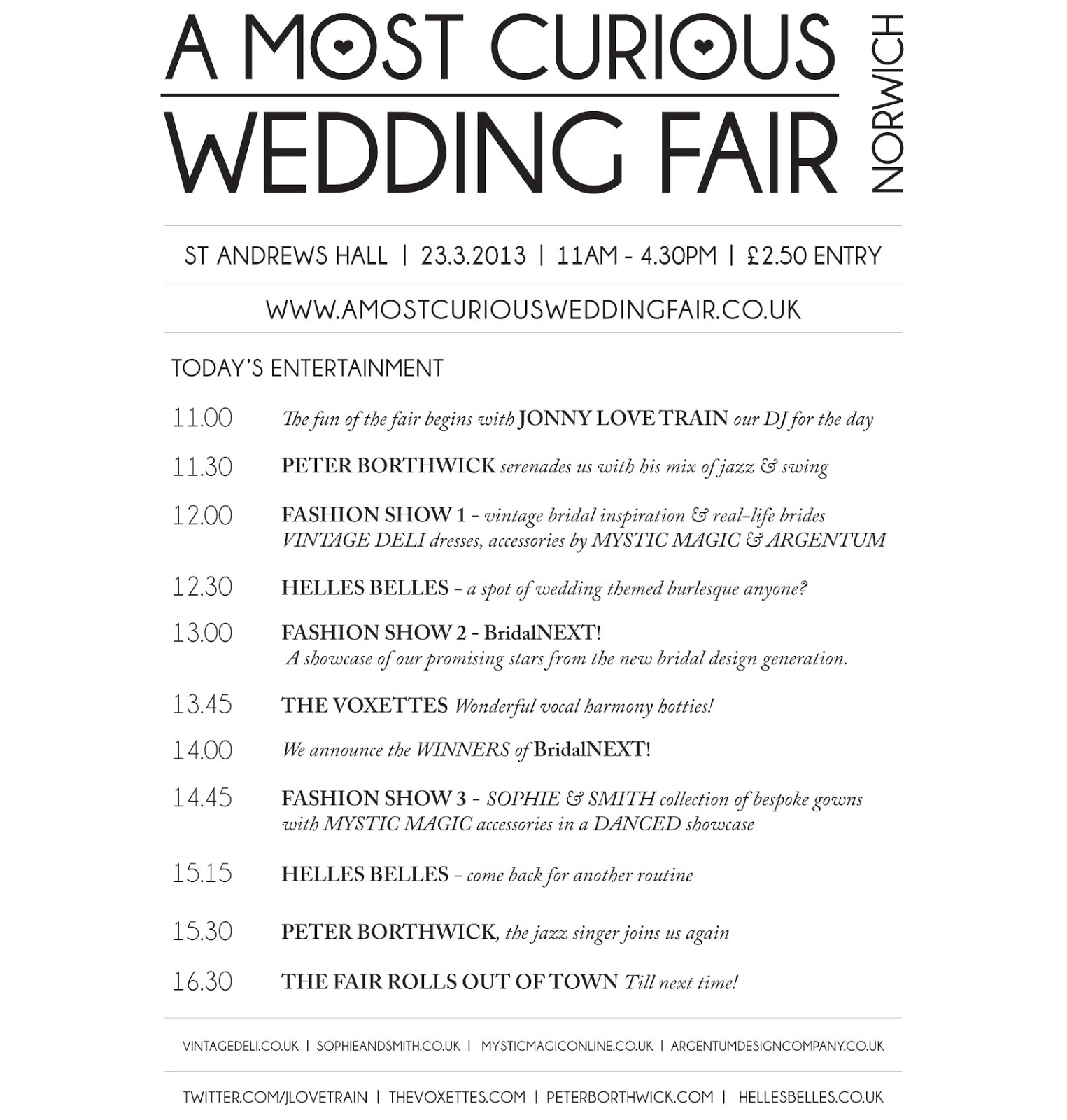 Wedding Running Order | Midway Media