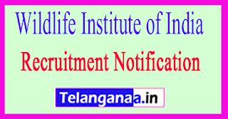 Wildlife Institute of India WII Recruitment Notification 2017