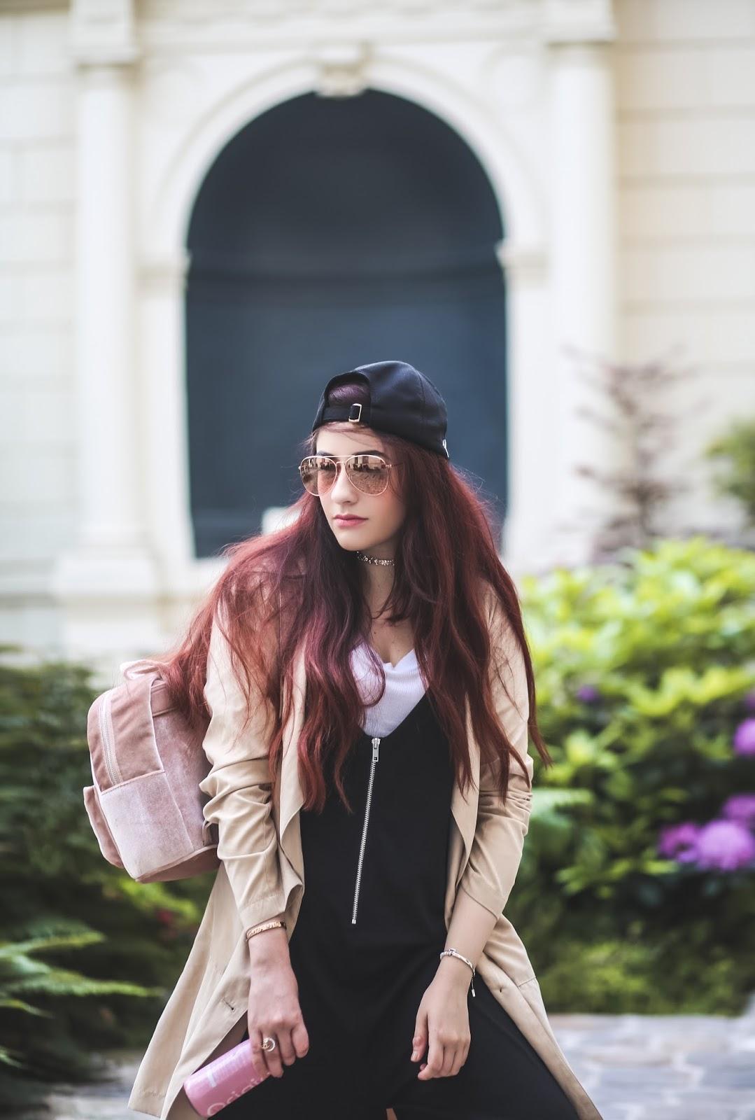 sac à dos velours blog mode