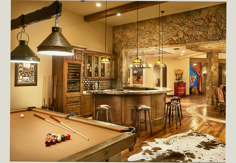 Basement designs ideas man cave ellecrafts Man cave ideas unfinished basement