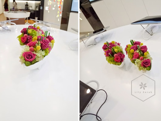 Preserved flower (保鮮花) arrangements for ICBC Flagship Branc