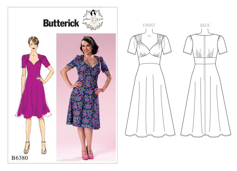 Butterick Patterns By Gertie B6380 1940s Style Tea Dress The
