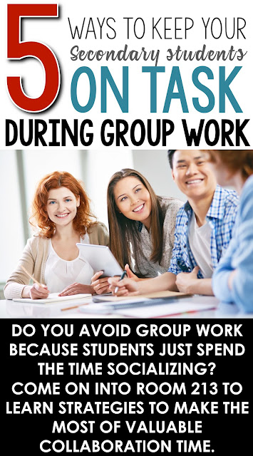 Strategies for keeping students on task during group work