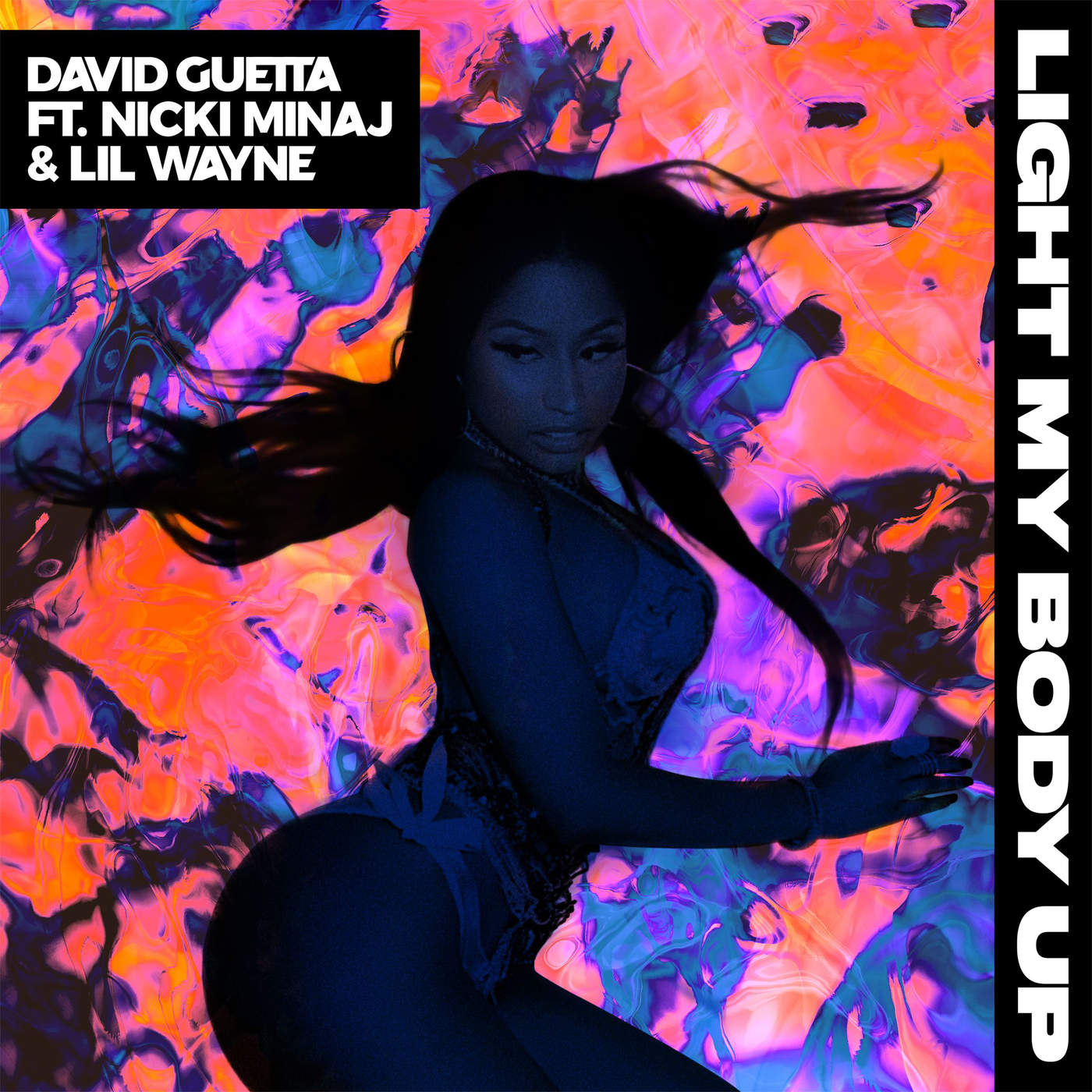 David Guetta - Light My Body Up (feat. Nicki Minaj & Lil Wayne) - Single Cover