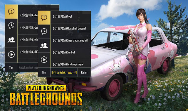 Quick Chat Pubg Mobile Loli Version Terbaru - Karakter Anime