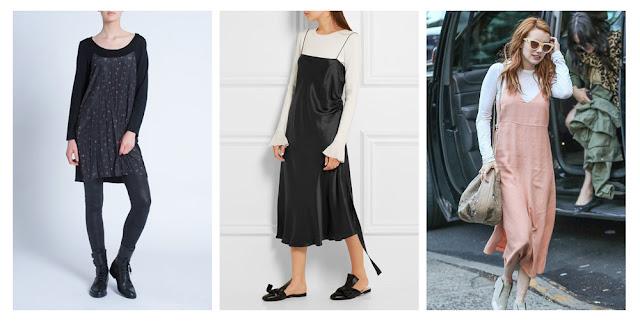 Платье-комбинация с топом с длинным рукавом
