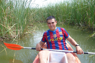 Kayak en el parque Deltaventur.