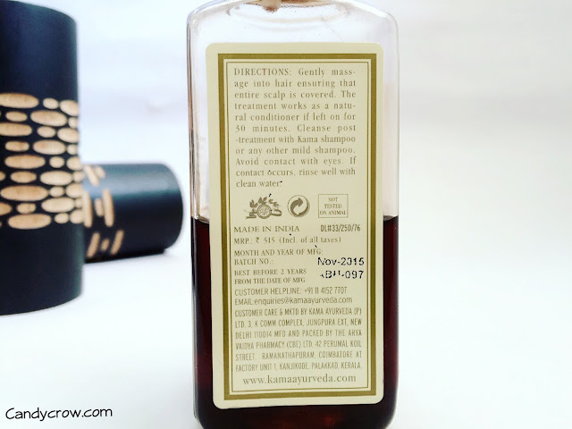 Kama Ayurveda Bringadi Hair Treatment Oil Review