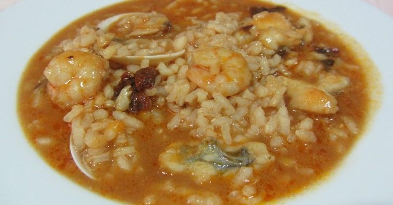 La cocinera de b tulo arroz caldoso con rape almejas y - Arroz con gambas y almejas ...