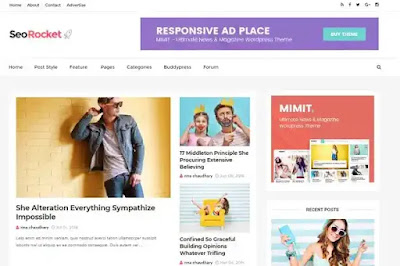 Template Blogspot Gratis Premium Seo Rocket