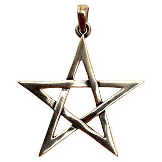 купить белую пентаграмму из бронзы латуни обереги пятиконечная звезда добра любви