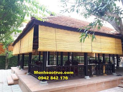 Mành tre nhà hàng gỗ