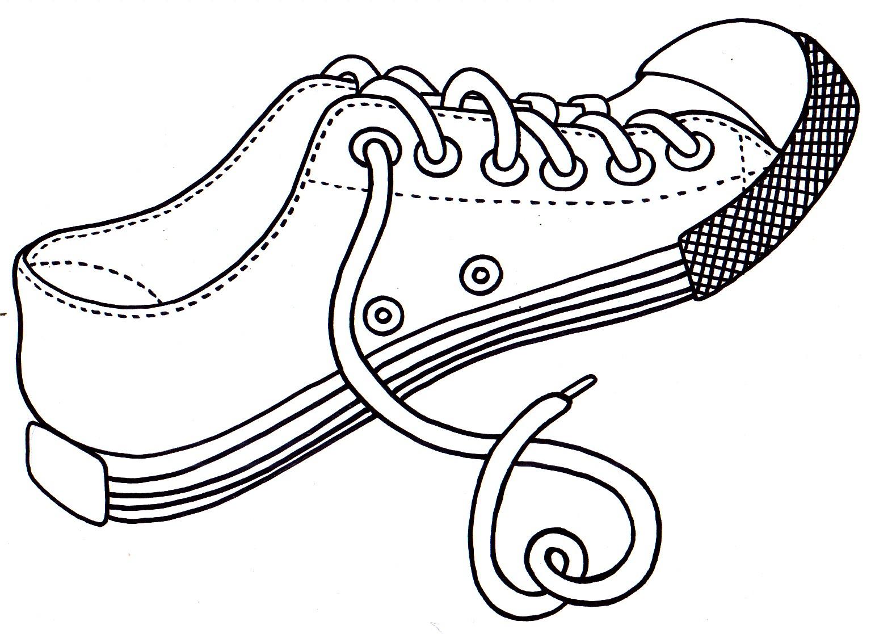 Dibujos De Ropa Para Colorear E Imprimir: Los Dibujos Para Colorear : Dibujos De Zapatos Para Colorear