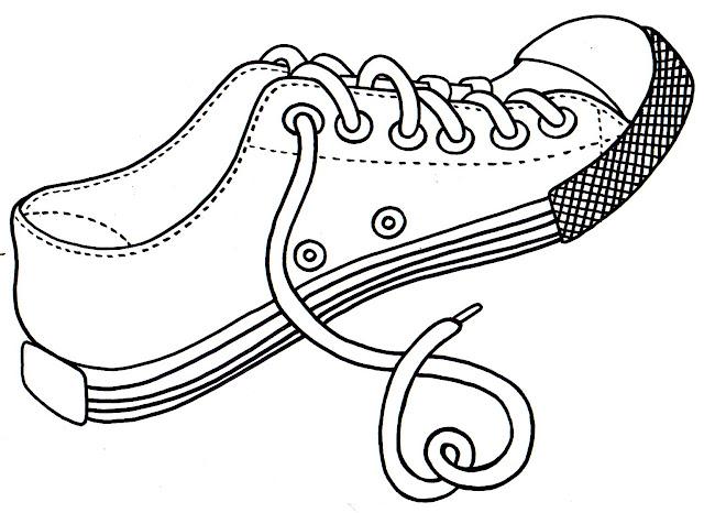 dibujos de zapato para colorear e imprimir