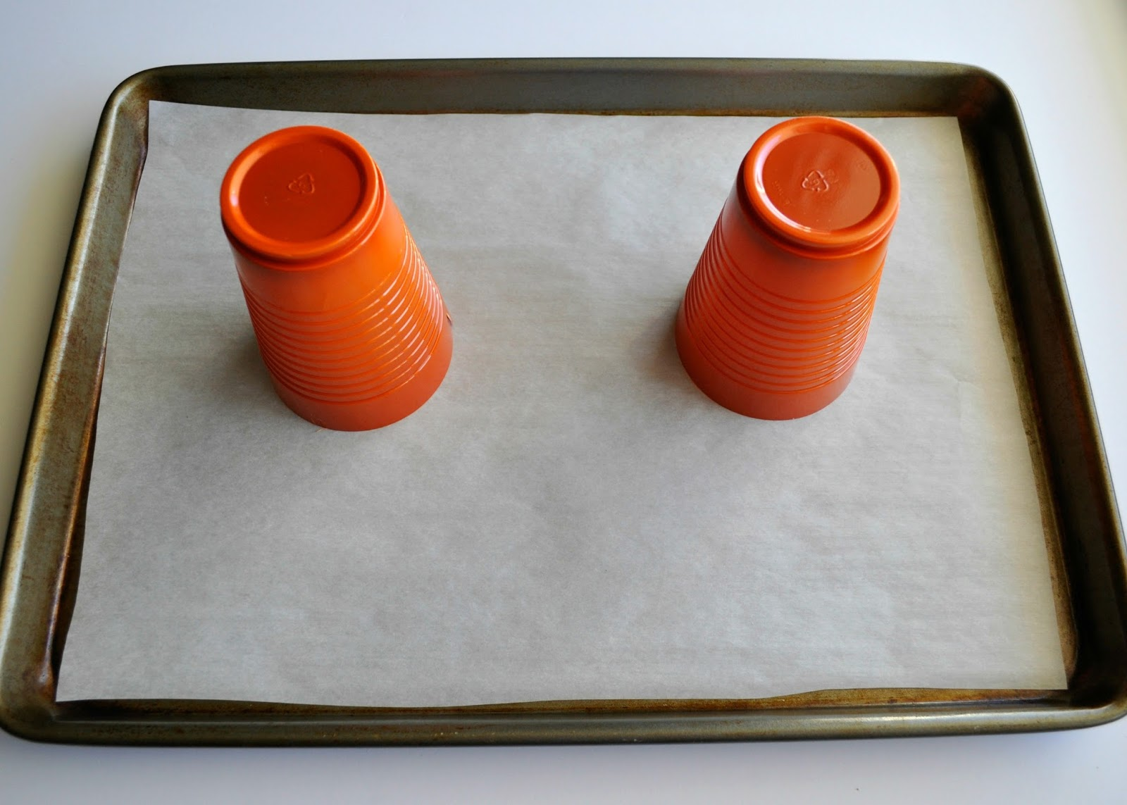 Melted Plastic Cup Pumpkins