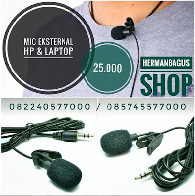 Mic Microphone Eksternal Untuk HP Laptop Pc dll Hermanbagus Shop