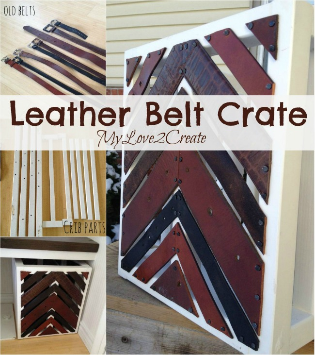 This Leather Belt Crate is a perfect way to add color and texture to your home decor!  A simple and stylish repurpose project!