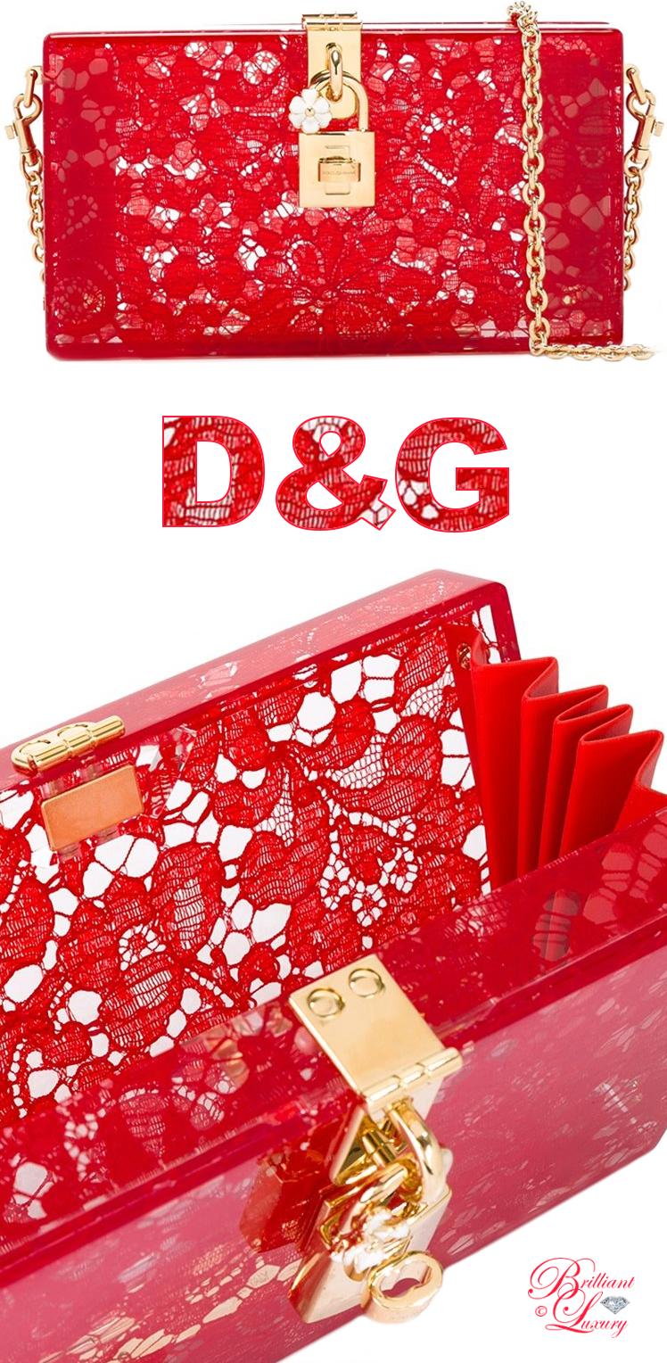 Brilliant Luxury ♦ Dolce & Gabbana Dolce Box Clutch