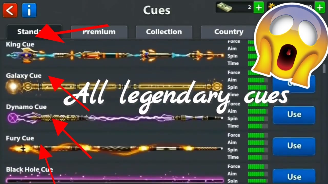 8 ball pool mod apk legendary cue