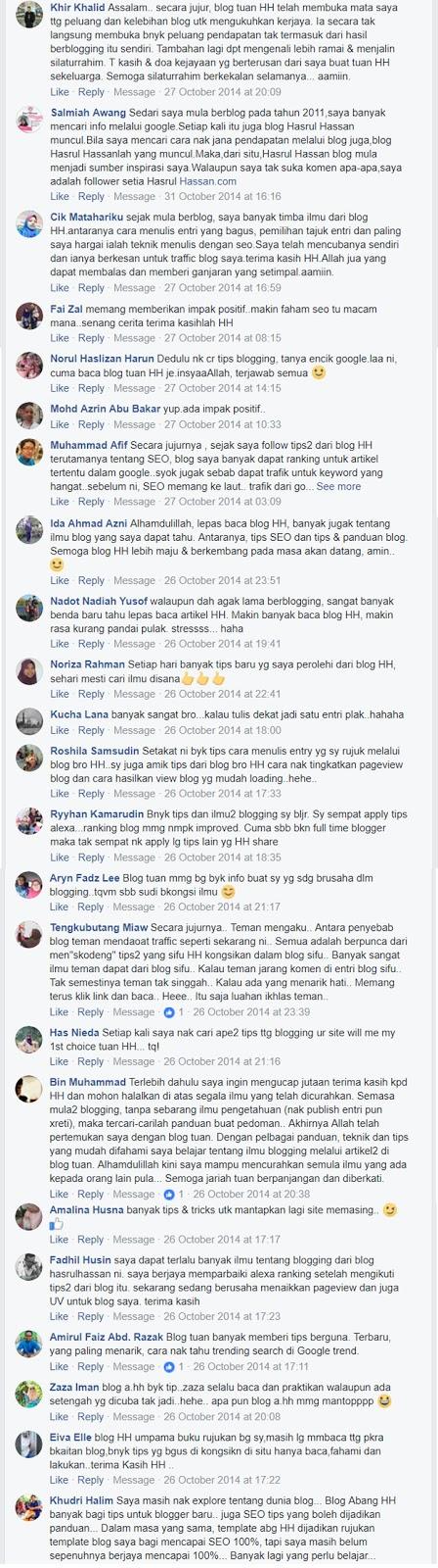 Testimoni pembaca blog hasrulhassan.com