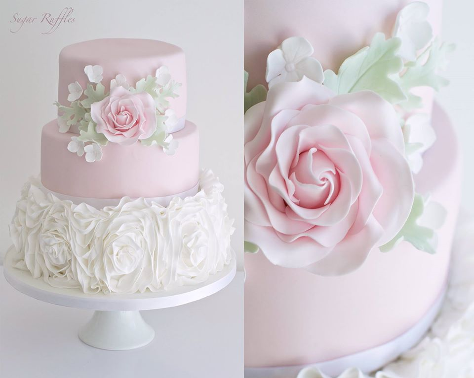 wedding cakes with ruffles and roses sugar ruffles wedding cakes barrow in furness 26113