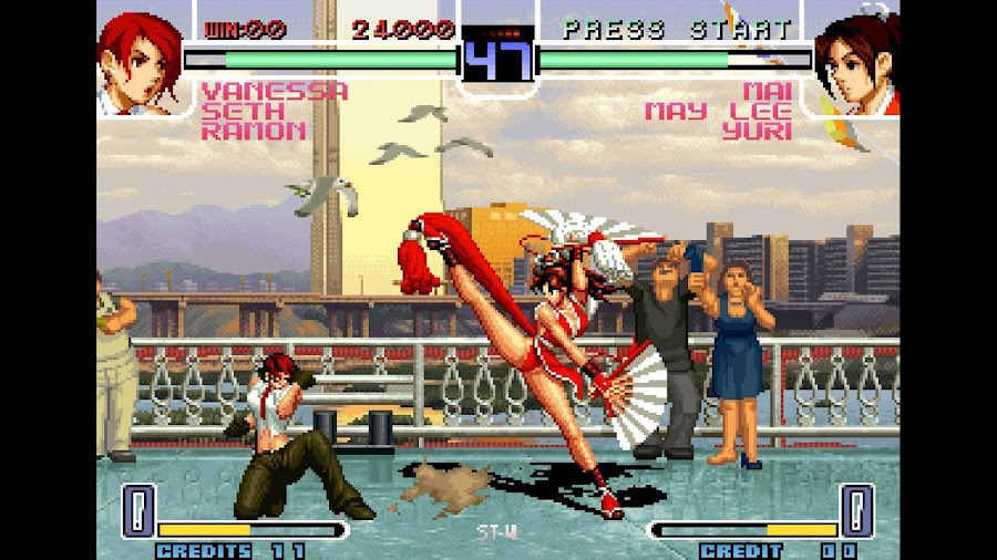 king of fighters 2002 vanessa vs mai shiranui