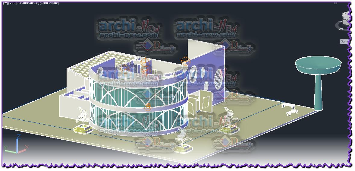 Download AutoCAD CAD DWG file 3d restaurant project Archi ...