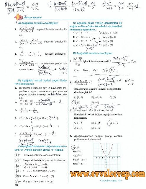 10. Sınıf Matematik Tuna Yayınları Ders Kitabı 312. Sayfa Çözümleri
