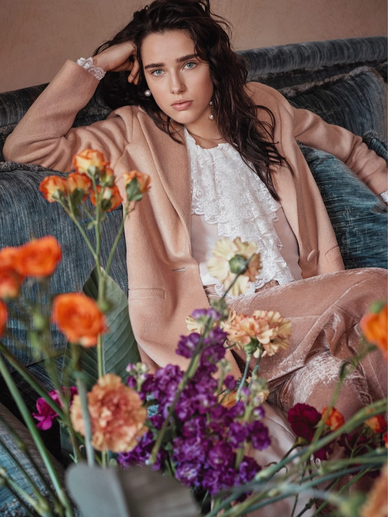 Robin Van Halteren is in Full Bloom for Blugirl's Fall 2017 Campaign