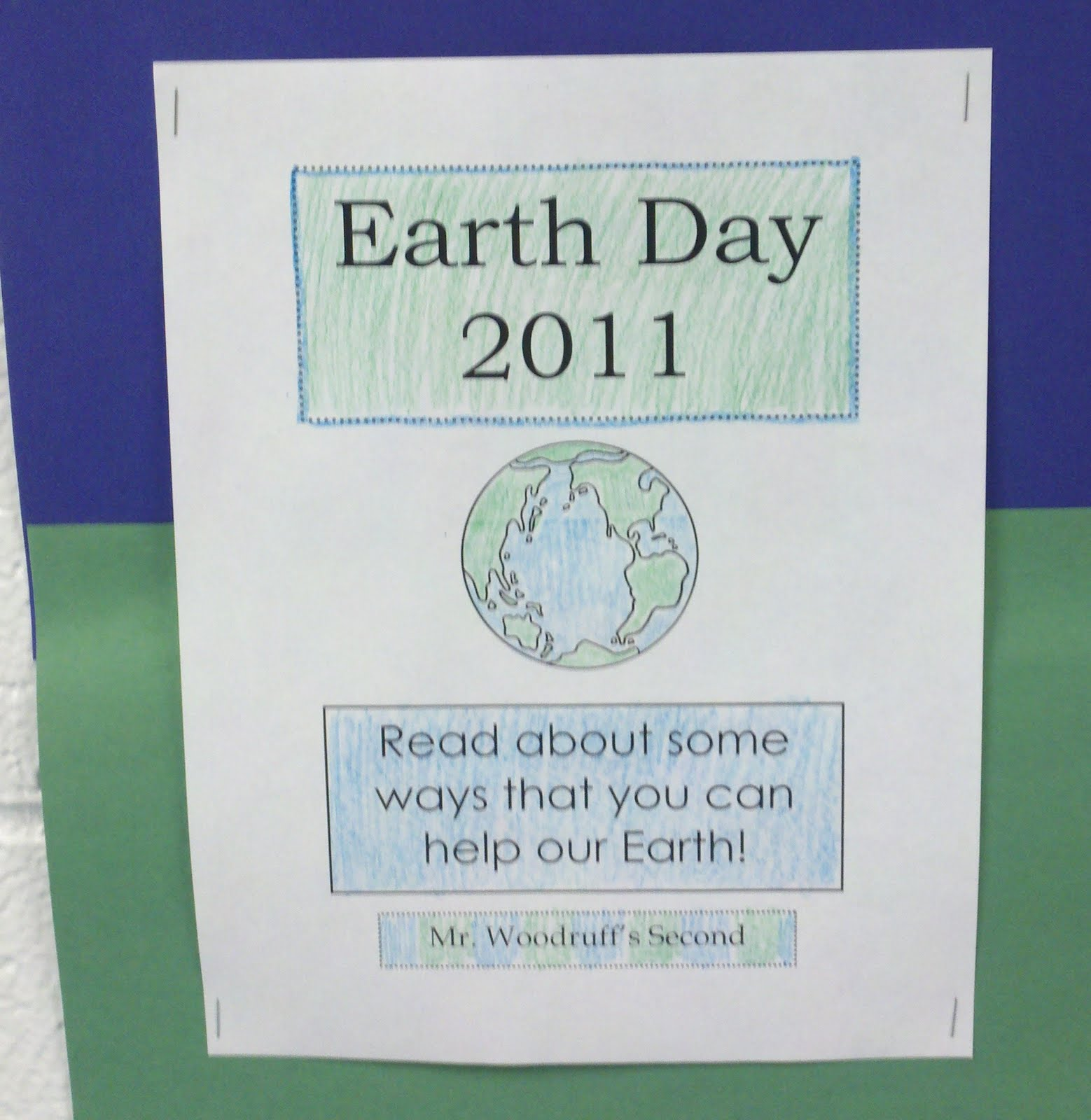 Mr Button S Blog Celebrating Earth Day In Mr Woodruff S 2nd Grade Class