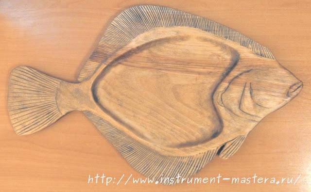 декоративный поднос под рыбу