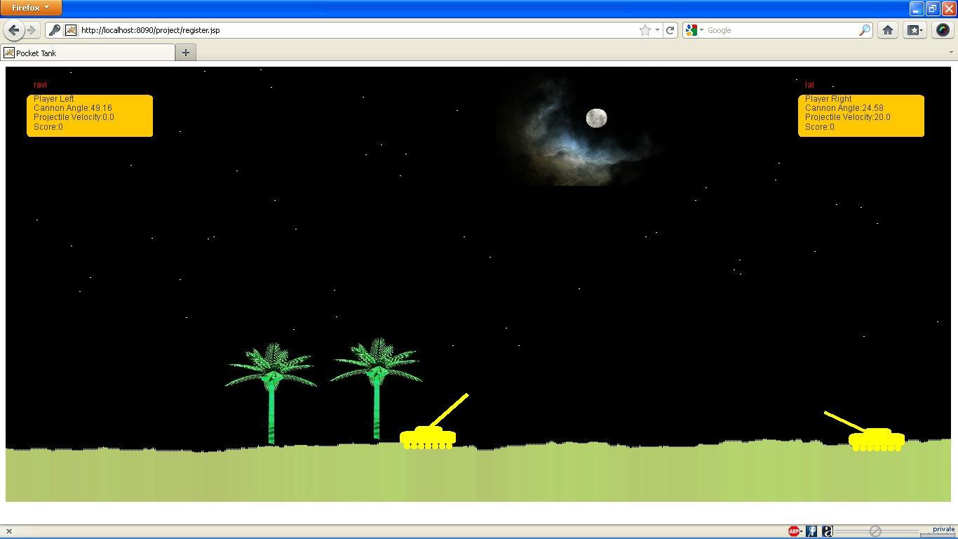 Pocket Tanks Java Project - ProjectsGeek