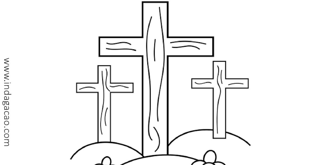 Resultado de imagem para desenho para colorir cruz