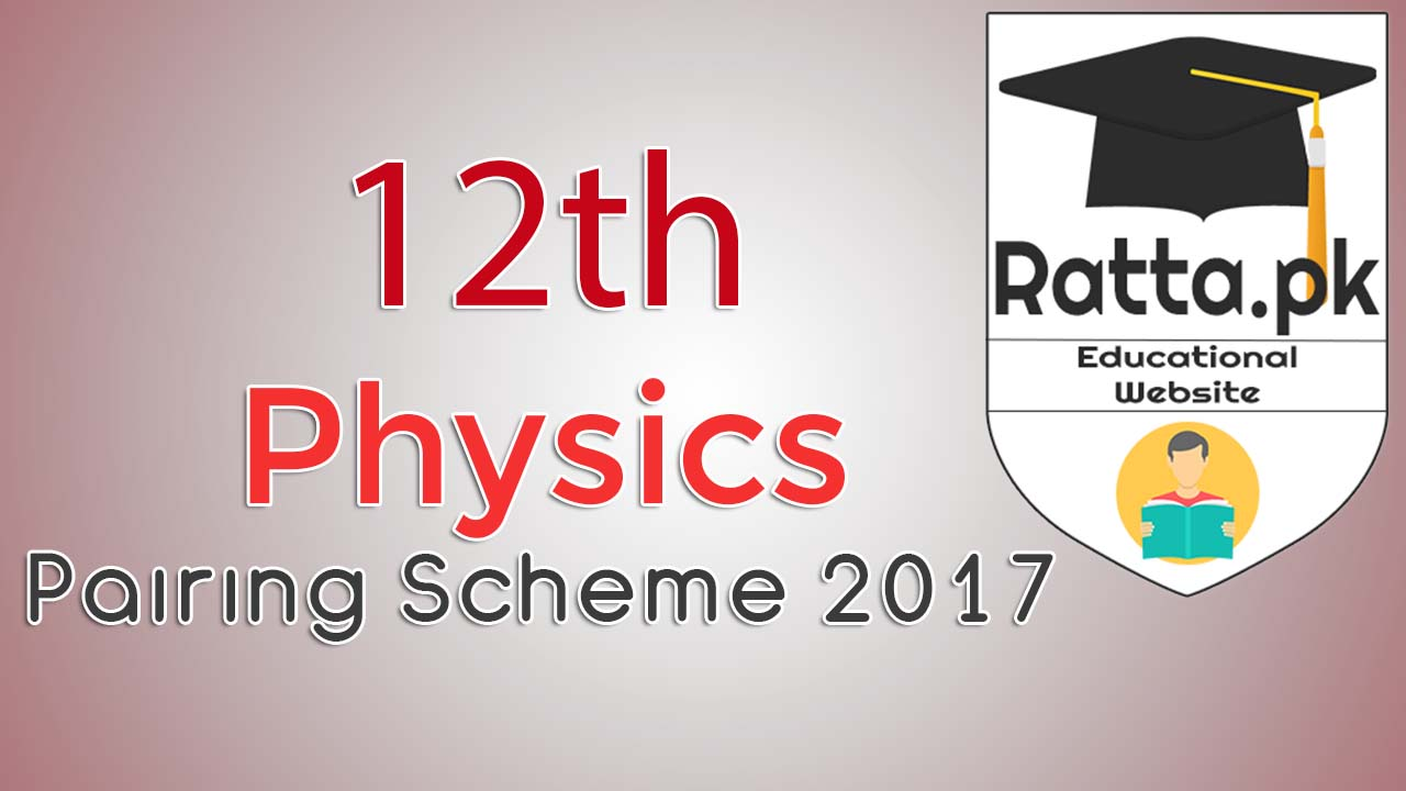 2nd Year Physics Pairing Scheme 2017 - Assessment Scheme