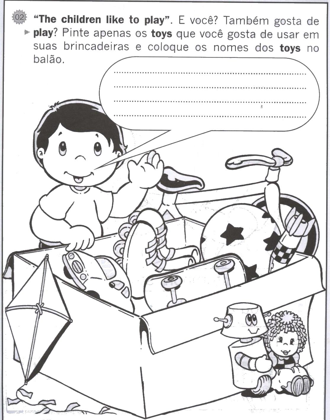 Populares Toys - Inglês para Crianças - Hora de Colorir - Atividades escolares KU77