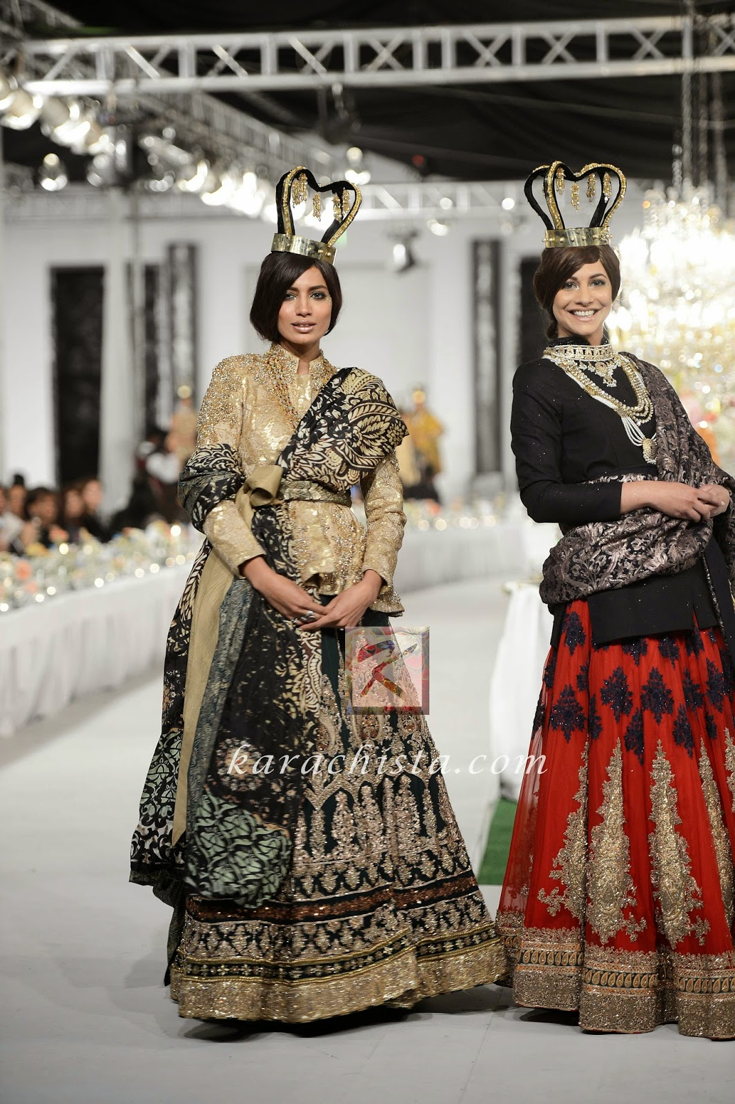 Rabia Butt and Cybil Chaudhry in HSY