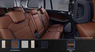 Nội thất Mercedes GLS 500 4MATIC 2017 màu Nâu Saddle (224)