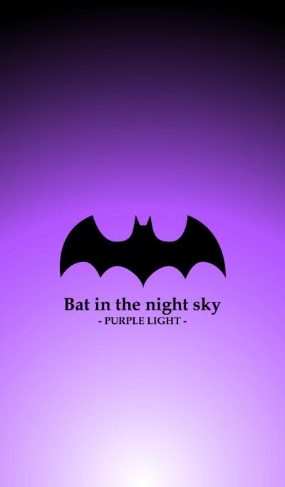 Bat in the night sky - PURPLE LIGHT -